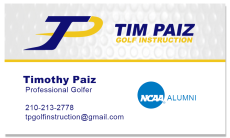 Tim Paiz Business Card