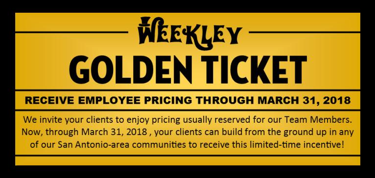 Weekley Bar Golden Ticket