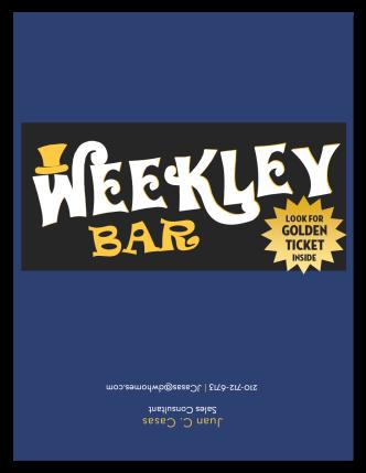 Weekley Bar Label